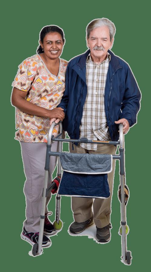 man-walker-nurse