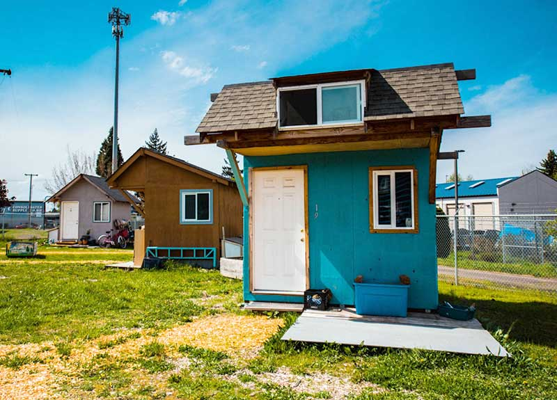 aging in community  with tiny houses and low income rentals