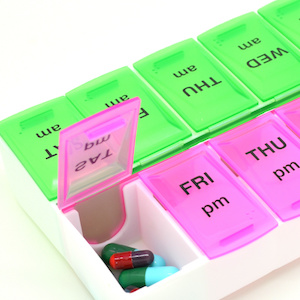 photo of daily pill organizer