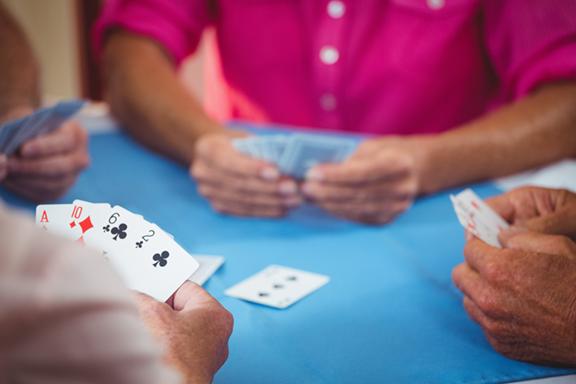 Photo of people playing poker.