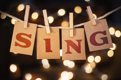 Photo of the word Sing