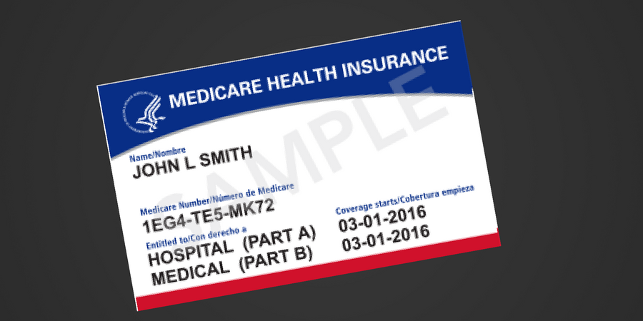 new medicare card sample
