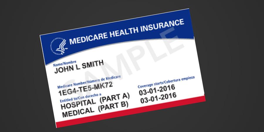 new medicare card sample