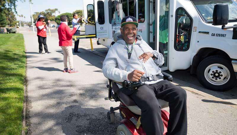 Smiling-Man-Cap-Moto-Chair-mobile