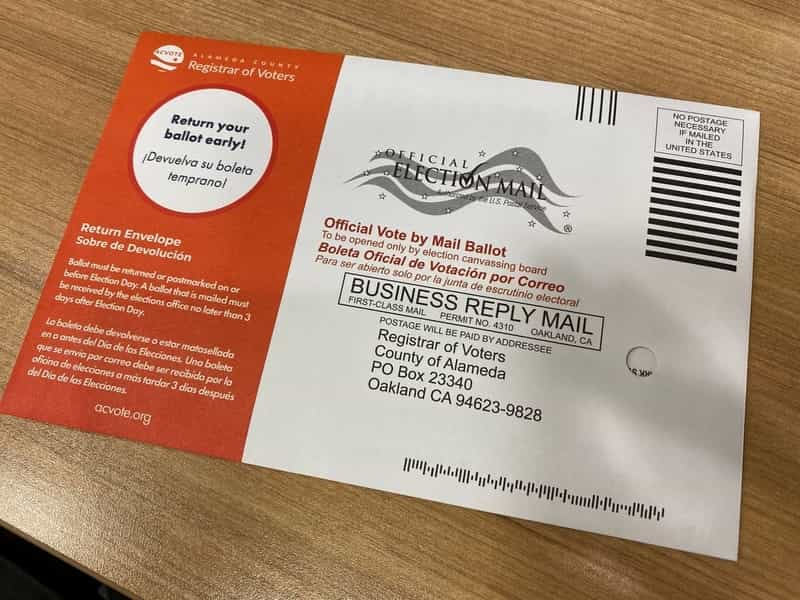 Alameda County Vote by Mail Return Envelope