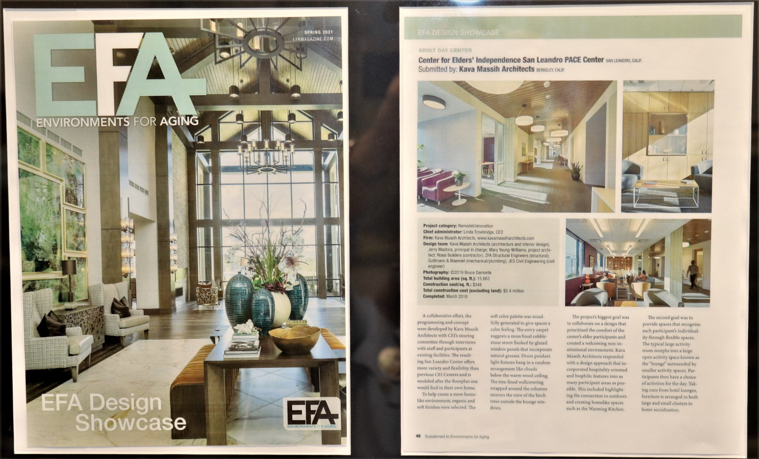 PACE San Leandro Center Honored in EFA Magazine